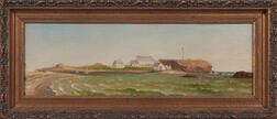 Attributed to Charles H. Gifford (Massachusetts, 1839-1904), Fishing Lodge at West Island, Sakonnet Point, Little Compton, Rhode Island