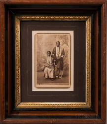 Cabinet Card Photograph of Two Sioux Women