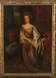 British School, 19th Century      Portrait of Miss Frances Jennings (1647-1730), Later Frances Talbot, Countess of Tyrconnel