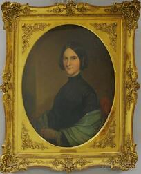 American School, 19th Century       Portrait of Josephine Hays Willock.