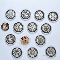 Thirteen Silver Rounds