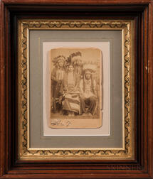 Cabinet Card Photograph of Four Native Americans