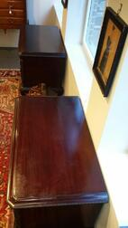 Rare Pair of Carved Mahogany Dressing Tables