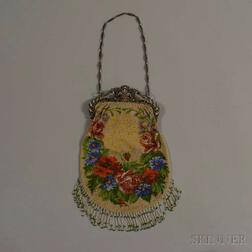 Beaded Bag with Jeweled Clasp