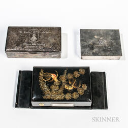 Three Korea/Vietnam-era Presentation Cigarette Boxes
