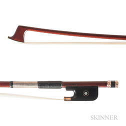 Gold-mounted Viola Bow