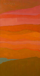 Reba Stewart (American, 1930-1971)      Pink, Orange, and Green Abstraction