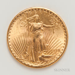 1928 $20 St. Gaudens Double Eagle Gold Coin.