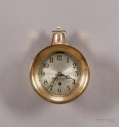 Brass Ship's Bell Wall Clock by the Vermont Clock Company