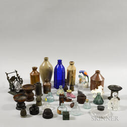 Group of Inkwells and Other Vessels