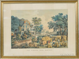 Currier & Ives, Publishers (American, 1857-1907) Lithograph The Farmers Home-Harvest