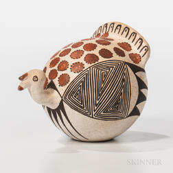 Acoma Polychrome Pottery Turkey