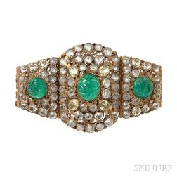 Vintage Costume Bracelet , attributed to Hobe
