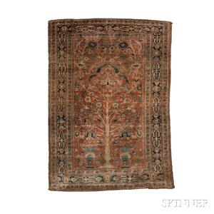 Silk Heriz Prayer Rug
