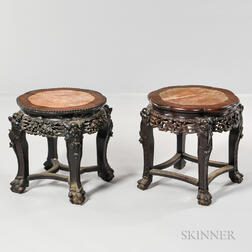 Two Marble-top Stands