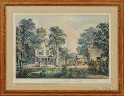 Currier & Ive,s Publishers (American, 1857-1907) Lithograph The Farmers Home-Summer