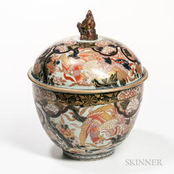 Large Imari Covered Bowl