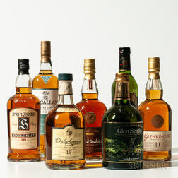 Mixed Single Malts, 7 750ml bottles (oc)