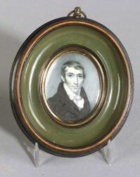 English Miniature on Ivory of a Gentleman