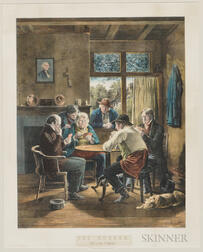 Currier & Ives, Publishers (American, 1857-1907) Lithograph The Rubber