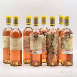 Chateau dYquem 1970, 8 bottles