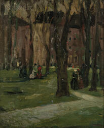 Robert Henri (American, 1865-1929)      Old Square, Philadelphia