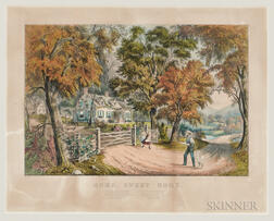 Currier & Ives Publishers (American, 1857-1907) Lithograph, Home, Sweet Home