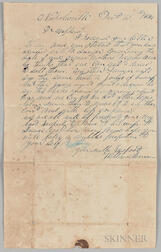 """Letter Concerning the """"Sale of Grandmother's Negroes,"""""""
