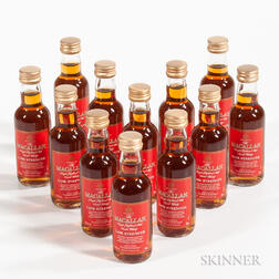 Macallan Cask Strength, 12 miniature bottles