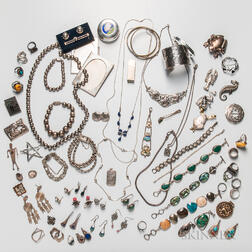 Group of Sterling Silver and Silver Jewelry