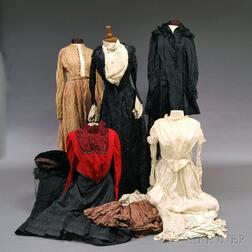 Group of Mostly 19th Century Lady's Clothing and Accessories
