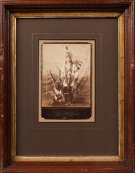 Cabinet Card Photograph of an American Indian in Dance Costume