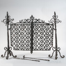 Wrought Iron Fireplace Screen