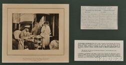 Three Framed Pieces Related to Empress Alexandra Feodorovna and Her Brother   Ernest Louis, Grand Duke of Hesse