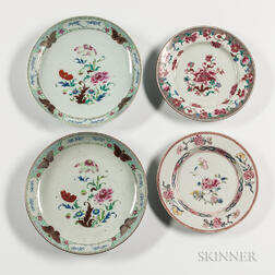 Four Export Porcelain Table Items