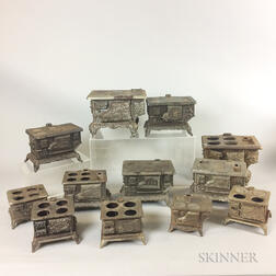 Approximately Thirty Cast Iron Toy Stoves.     Estimate $1,000-2,000