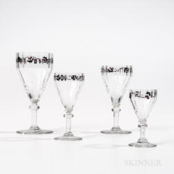Fourteen-piece Daum Stemware Set