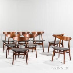 "Eight Hans J. Wegner for Carl Hansen & Son ""CH 30"" Dining Chairs"