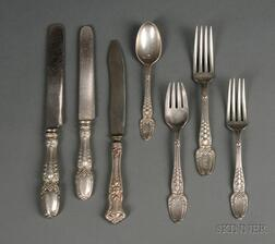 Tiffany Sterling Partial Flatware Set for Six in Broom Corn Pattern