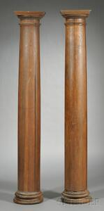 Two Arts & Crafts Architectural Columns