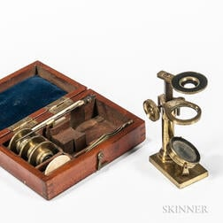 Lacquered Brass Simple Portable Microscope