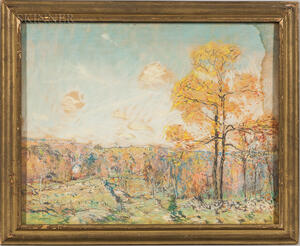 Arthur Clifton Goodwin (American, 1866-1929)      Landscape with Red Tree