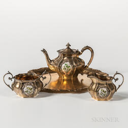 Four-piece Reed & Barton Sterling Silver-gilt Tea Service