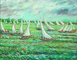 Reynolds Beal (American, 1867-1951)      Sailboats