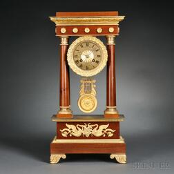Mahogany Portico Clock Retailed by Bigelow, Kennard & Co.