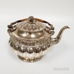 Large Silver Plate Hot Water Kettle