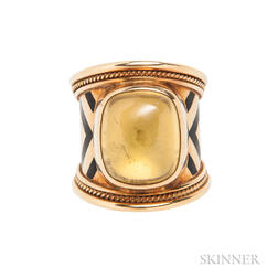 18kt Gold Gem-set Ring, Elizabeth Gage