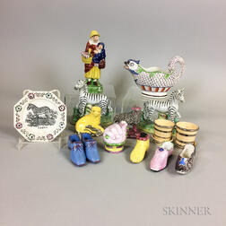 Seventeen Staffordshire Ceramic Items