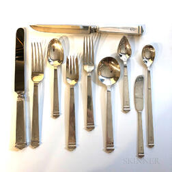 "Tiffany & Co. ""Hampton"" Pattern Sterling Silver Flatware Service"