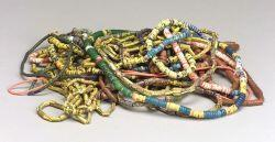 Fifty-five Strands of African Stone and Glass Trade Beads